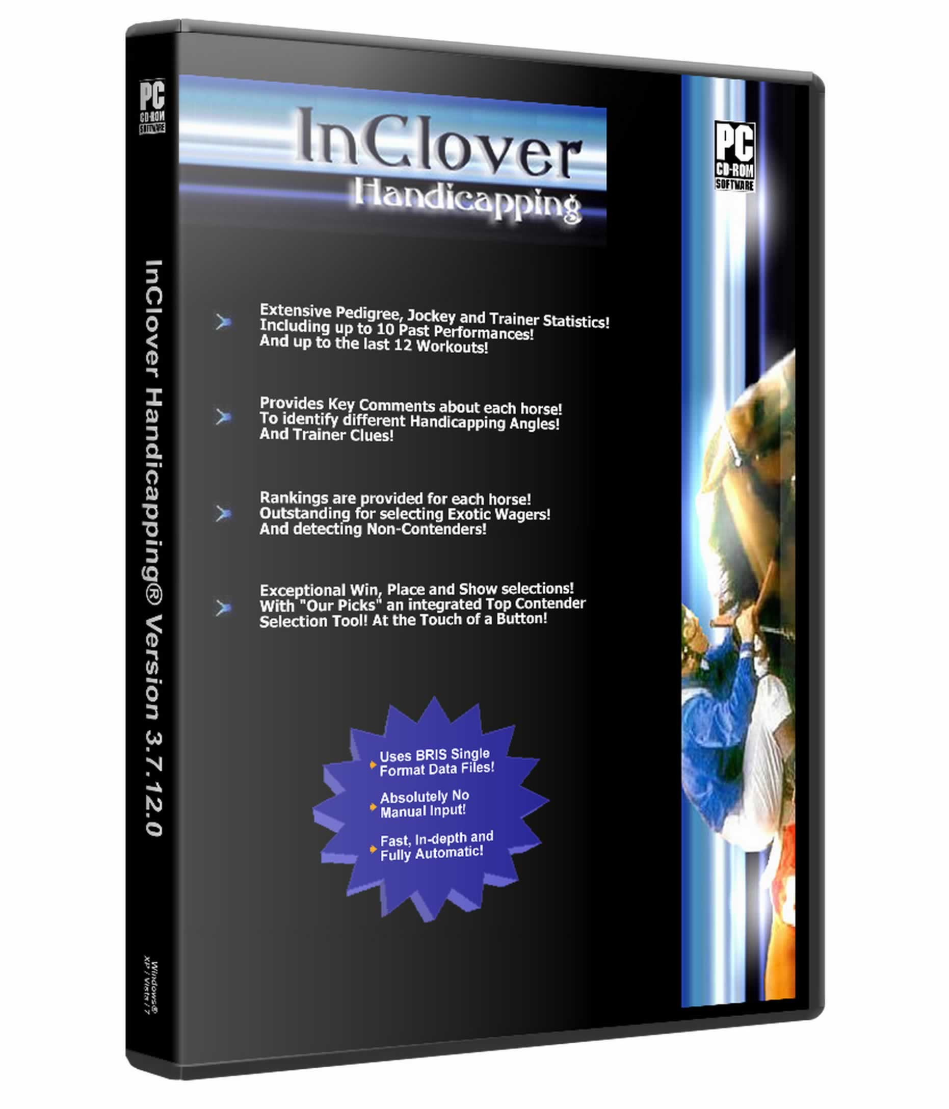InClover Handicapping Software disc and case